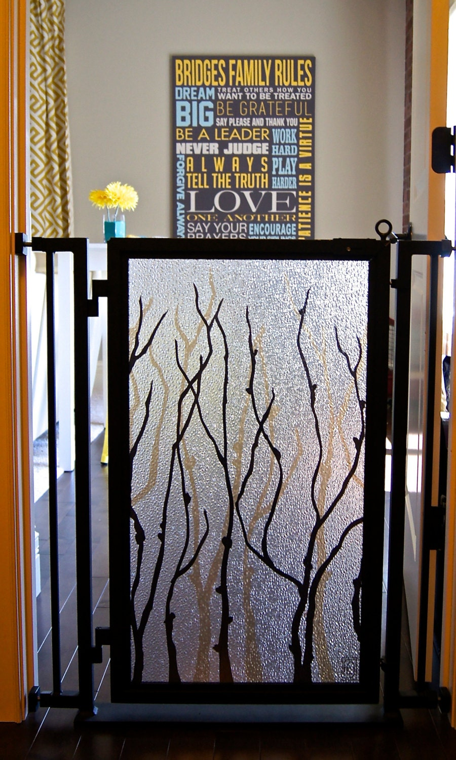 Designer Pet Gate Willow Branches Interchangeable By