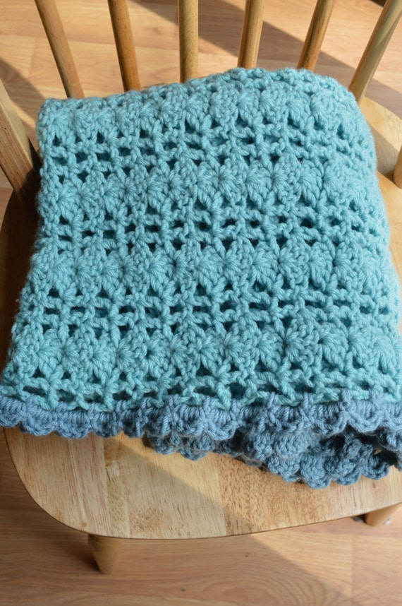 Green and Blue Baby Blanket, Handmade Baby Blanket, Crochet Baby Blanket, Baby Shower Gift, Baby blue blanket, Baby Soft Baby Blanket, Baby