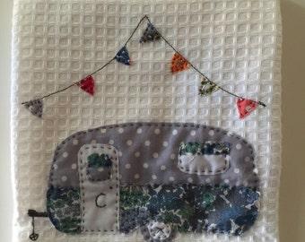 Caravan Appliqué Tea Towels