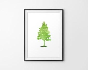 Tree Art, Tree Minimal Art, Tree Wall Decor, Tree Wall Decor, Tree Wall Art, Tree Print, Tree Home Decor, Tree Silhouette, Tall Tree