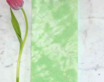 Green Flour Sack Towel - Large Tea Towel - Hand-Dyed Towel - Green Kitchen Towel -  Hostess Gift