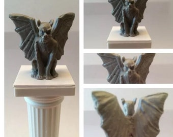 Detailed Miniature Gargoyle for Dollhouse Decorations and other Fantasy Mythical Diorama projects- 1:12 scale