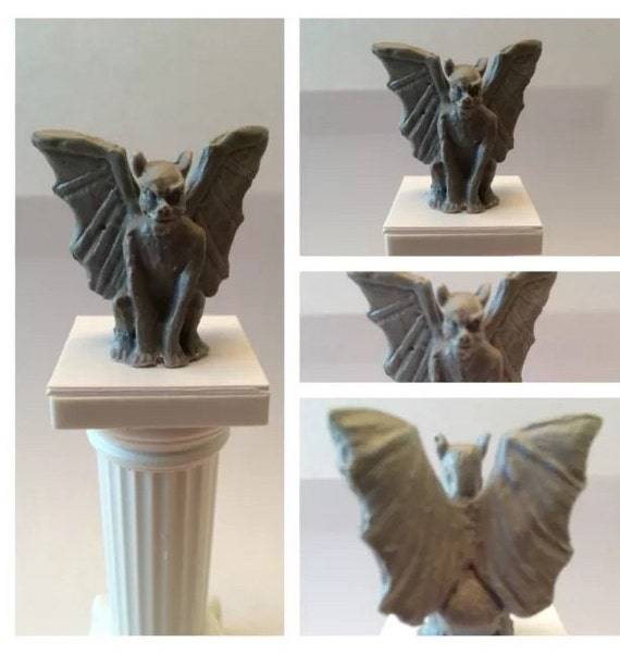 Detailed miniature gargoyle for dollhouse decorations and for Gargoyle decor