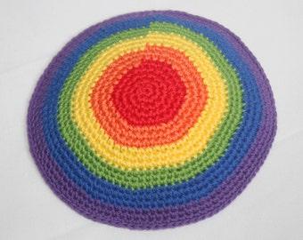 kippah rainbow colors