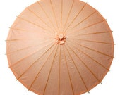 Peach Paper Parasol for weddings and daily use