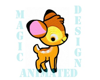 Little Bamby Machine Embroidery Design in 4X4 ---Instant download---
