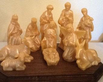 beeswax nativity