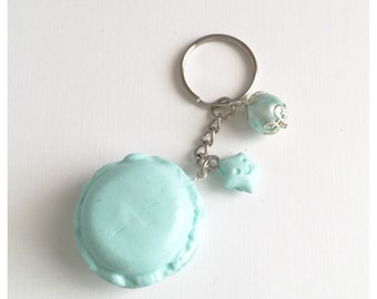 Mint Macaroon Keychain