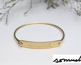 20% OFF - Actual Handwriting Bracelet - Personalized Signature Bracelet - Sympathy Gift - Mother's Gift - Christmas Gift - Valentine Gift
