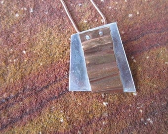 Sterling Silver with a wave of copper Necklace