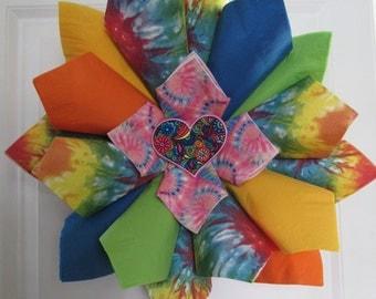 Tie Dye Bright Wreath