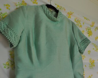 Mint Green A-Line Dress