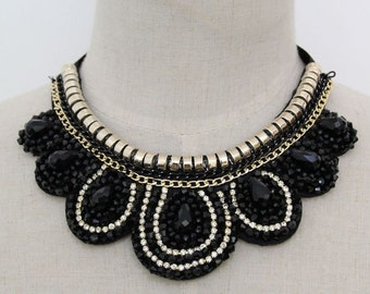 Collar Necklace - Detachable Collar Necklace -Statement Necklace