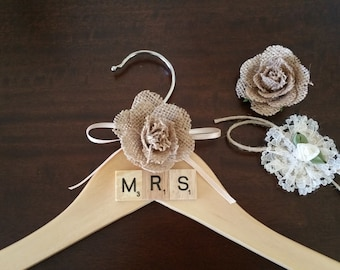 Bridal Wedding Gown Hanger French Shabby Chic.