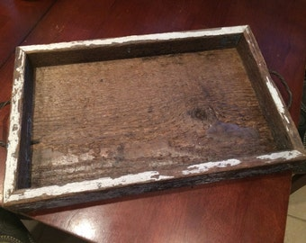 Repurposed Barn Wood Tray