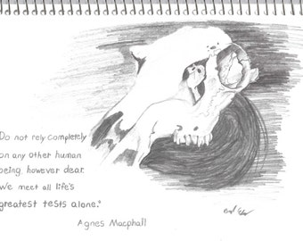 Skull with Agnes Macphail quote