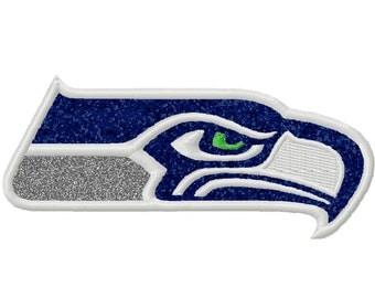 Seattle Applique Embroidery Design 4x4 5x7 Seahawks Super Bowl INSTANT DOWNLOAD