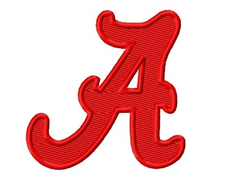 Alabama Solid Fill Embroidery Design 2x2 3x3 4x4 5x5  INSTANT DOWNLOAD
