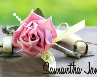 Custom Made Boutonniere For Your Groom Wedding You Choose The Colors