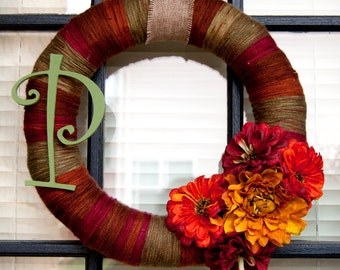 SALE Fall Yarn Wreath