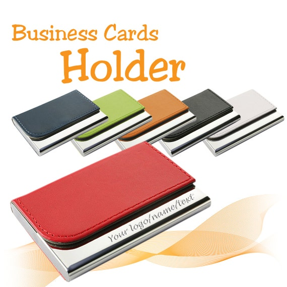 Personalised Business Card Holder free laser engraved with