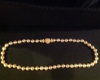 Vintage Nolan Miller Faux Pearl Necklace