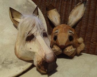 DIY Halloween masks, horse mask, rabbit mask, Instant Download, Printable Templates, Printable Masks