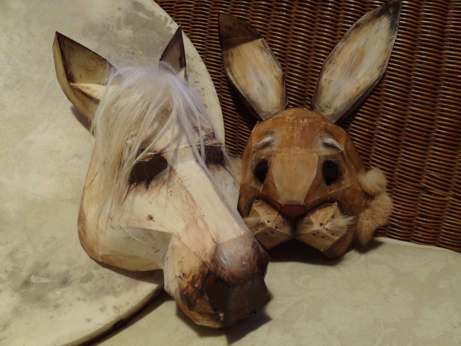 DIY Halloween masks horse mask rabbit mask Instant