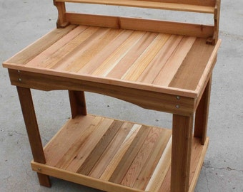 Our Style #8 Western Red Cedar Potting Bench LIFETIME GUARANTEE!!!