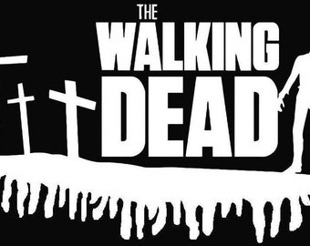 The Walking Dead and Zombie Vinyl Sticker