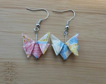 Small Origami Butterfly Earrings