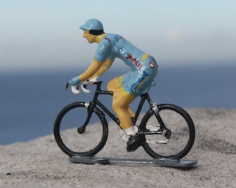Team Astana Hand-Painted Cycling Figurine