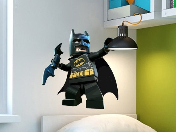Batman wall decal matte finished no white border by wallgeneral - Lego wandtattoo ...