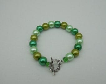 Mixed Green Pearl Bracelet