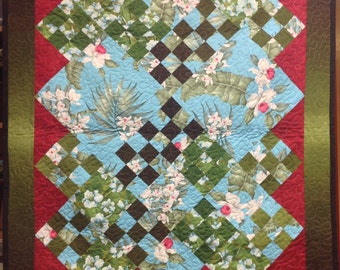 Turquioise Orchids Quilts