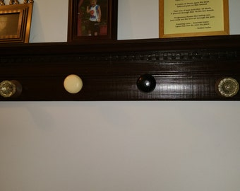 Beautiful Large Wooden Door Knob Shelf