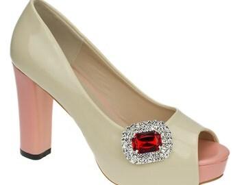 Ruby Shoe Clips
