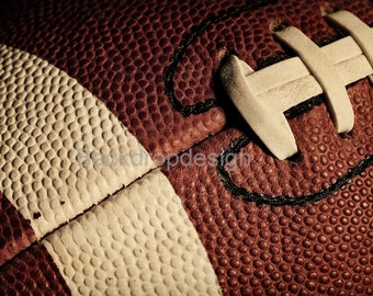 Football Backdrop - rustic dark football skin, sports, olympic - Printed Fabric Photography Background G0071