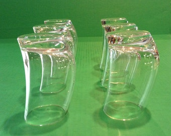 Crystal Modern/Contemporary Drinking Glasses by Colle,Italy(Murano)Design Bibulo