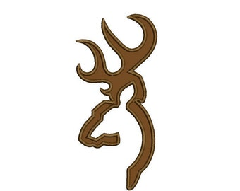 deer, buck head applique