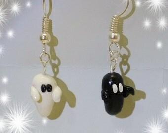 Halloween Polymer Clay Ghost earings