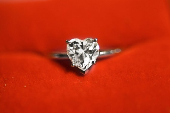Ct Brilliant Heart Shaped Cut Solitaire Engagement Ring