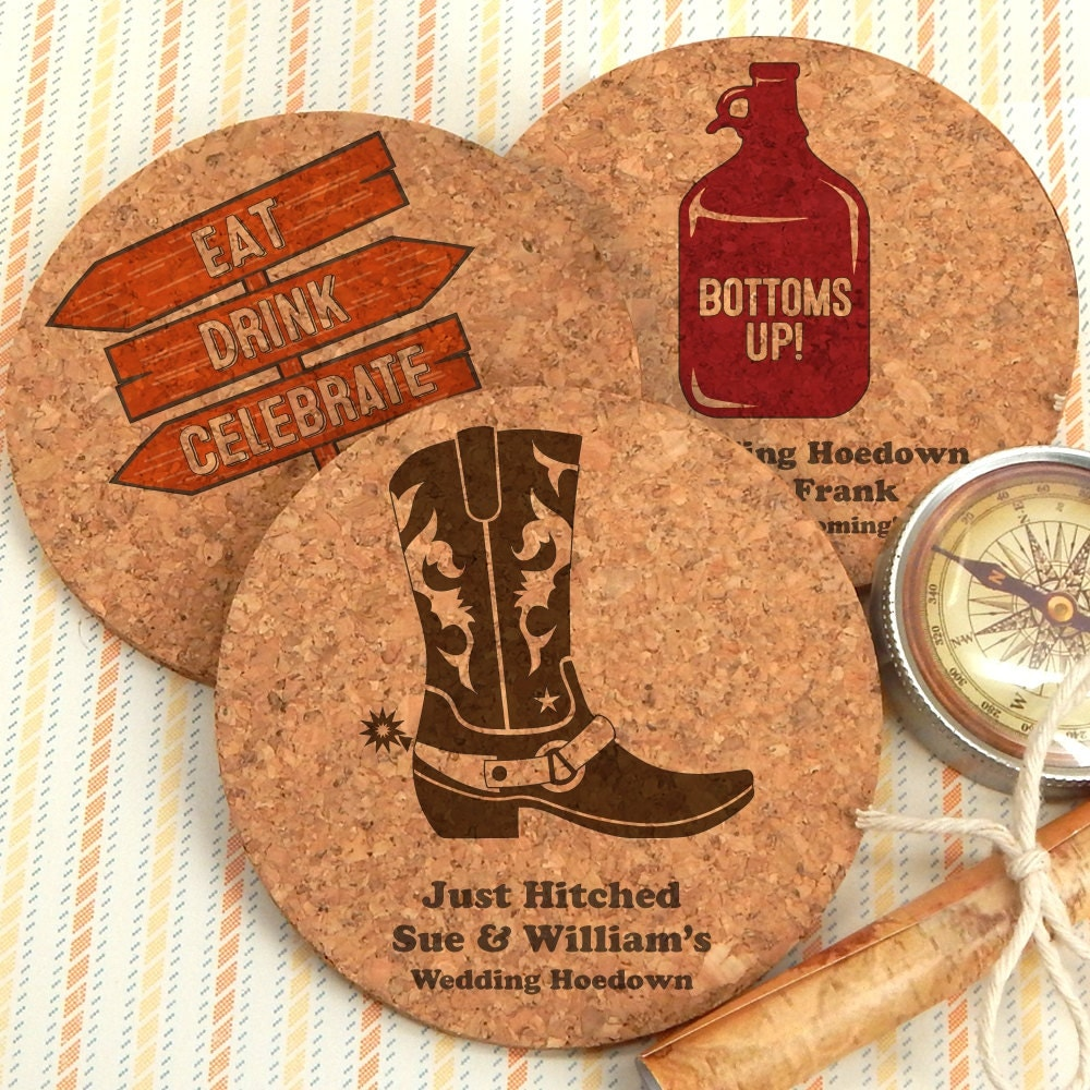 wedding favors rustic wedding favors coasters western