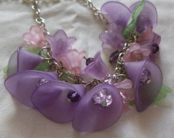 Spring Bloom - Flower Necklace