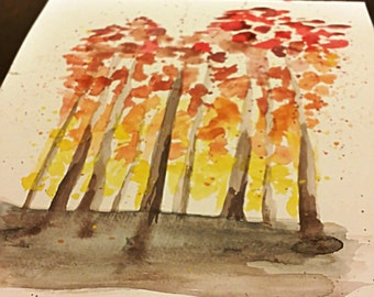 "8x10 Watercolor ""Indian Summer"""