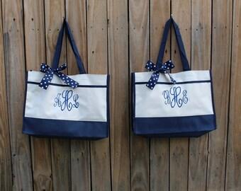 Bridesmaid Tote, Monogrammed Tote Bag Monogrammed Tote, Bridesmaid Tote, Personalized Tote Wedding (set of 4)