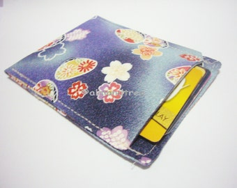 sale Sakura Japan, minimalist slim card wallet, pill sleeve, id1360993, credit card case, moneystash, front pocket wallet, gift for her