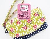 Zip Pocket Pouch Wristlet PDF Pattern | Two Pocket Pouch Sewing Pattern PDF