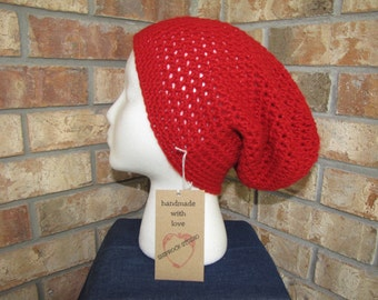 Slouchy Beanie Hat - Rouge Sparkle