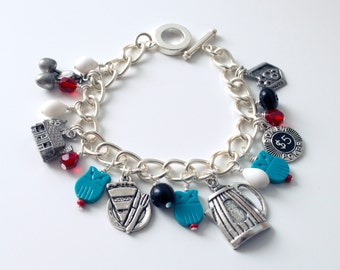 The Owls Are Not What They Seem charm bracelet inspired by Twin Peaks